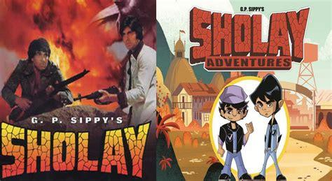 sholay film cartoon video sholay to become a cartoon series sulekha movies