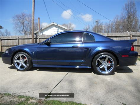 2001 mustang coupe 2001 ford mustang svt cobra coupe true blue