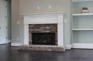 Hearth Bricks For Fireplaces by Half Brick Fireplace Surround With Raised Hearth