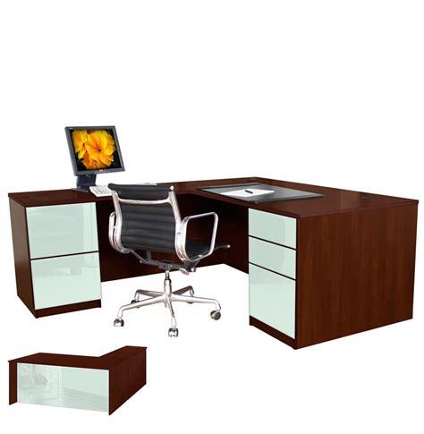 l shaped desk left return l shaped executive desk pedestal left return