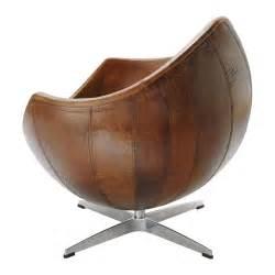fauteuil vintage cuir marron guariche mars maisons du monde
