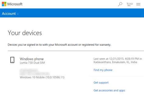 my find mobile how to use find my phone on windows 10 mobile