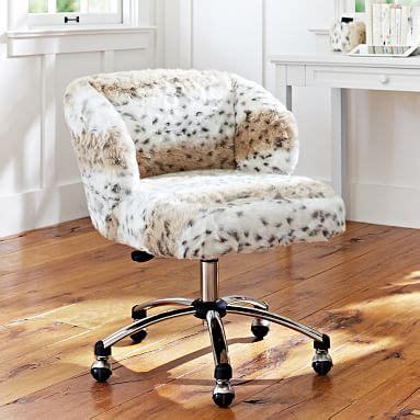 faux fur backless office chair snow leopard faux fur wingback chair pbteen