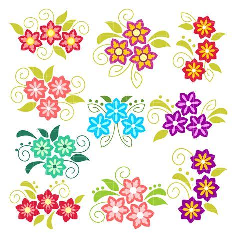 flower clipart pretty flowers arts set semi exclusive clip set for