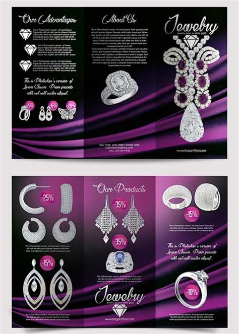jewelry brochure template jewelry tri fold advertisement psd template
