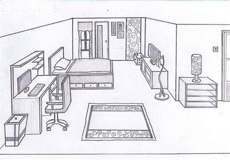 bedroom drawing bedroom sketch 1 0 by cornerart on deviantart