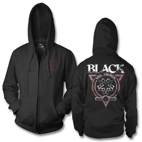 Hoodie Zipper Veil Of Logo Fightmerch black veil brides official store black veil brides