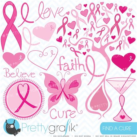 breast cancer clipart commercial use vector graphics