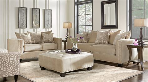 cindy crawford living room sets cindy crawford home sidney road taupe 5 pc living room