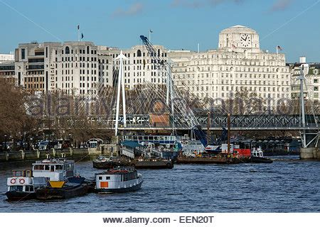 thames river london england oh the places to go embankment place charing cross railway station and