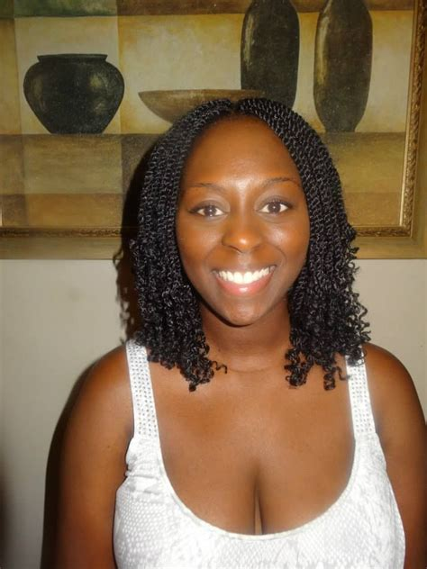 Pictures Of Marley Twist Curled At The End   kinky twist crochet curly at the ends crochet weave
