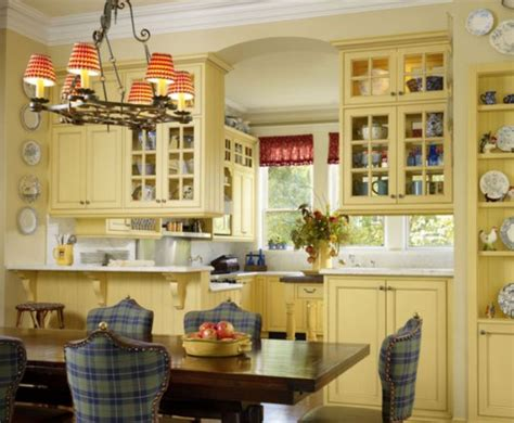 country kitchen cabinet colors tips for a yellow themed kitchen