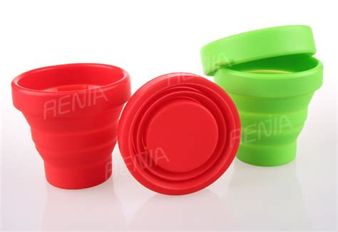 Silicone Foldable Cup Mould renjia eco friendly collapsible silicone cup foldable