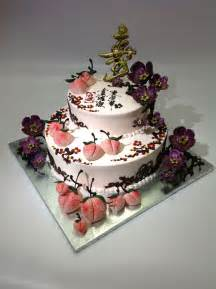 chinese birthday cake with cherry blossom cakecentral com