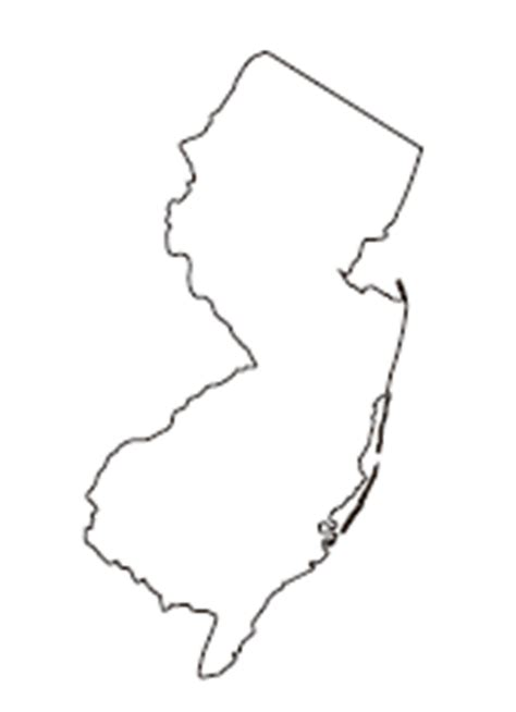 New Jersey State Map Outline by Usgs Ground Water Information New Jersey Water Science Center