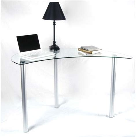Rta Tier One Designs Clear Glass Corner Computer Desk Corner Desk Glass