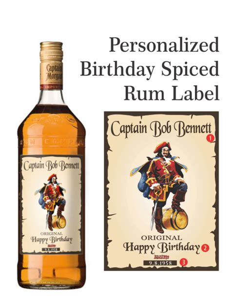Personalized Rum Label Captain Morgan Style Personalized Liquor Bottles Labels Liquorlabels Captain Label Template