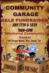 community garage sale fundraiser template postermywall