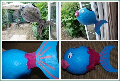 How To Make Paper Mache Fish - how to make a paper m 226 ch 233 pi 241 ata fish redtedart s