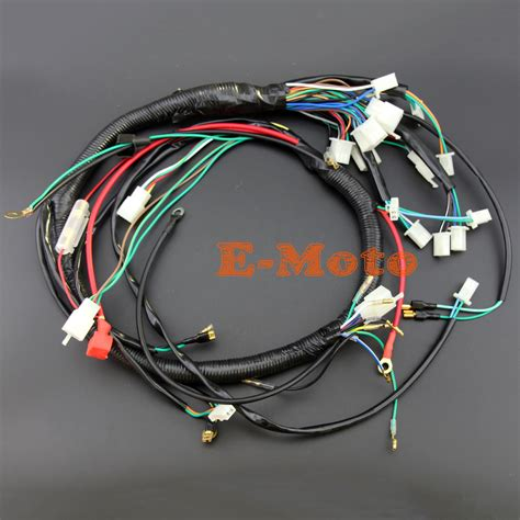 electric start wire loom wiring harness 200cc 250cc 300cc