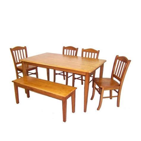 shaker dining room set boraam shaker oak 6pc dining room set the classy home
