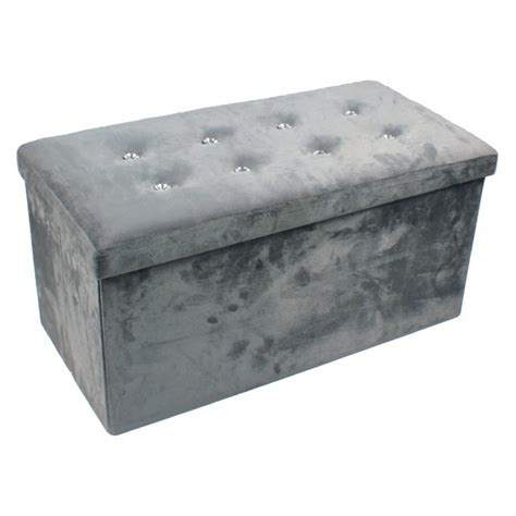 suede ottoman large diamante faux suede ottoman homevibe
