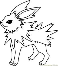 jolteon pokemon coloring free pok 233 mon coloring pages coloringpages101