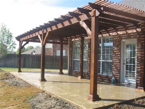 free standing wood patio cover plans build a patio cover
