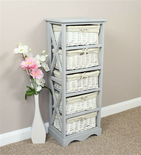 shabby chic furniture on ebay shabby chic furniture storage unit painted wicker basket