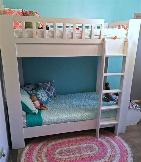 diy bunk bed plans white rustic modern bunk bed diy projects