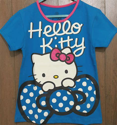 Baju Anak Hello Baju Anak Hello Biru Pita Glitter 7 10 Grosir