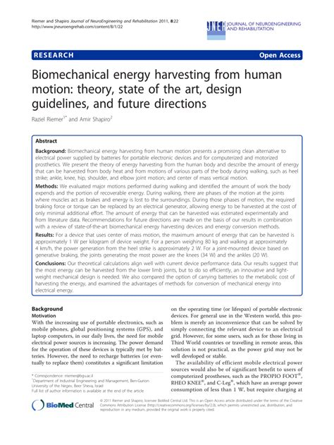 design guidelines c biomechanical energy harvesting from pdf download