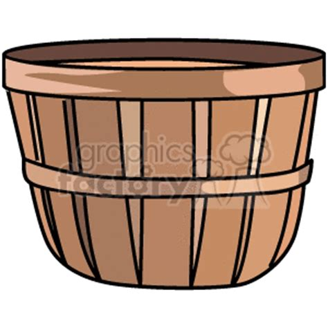 royalty free wicker basket 147584 vector clip art image