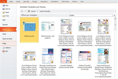 creating a template in powerpoint 2010 presentation tip how to create a poster in powerpoint