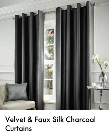 charcoal velvet curtains velvet faux silk charcoal curtains for sale in castleknock