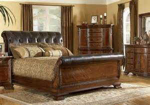 King Size Leather Sleigh Bed Mahogany And More Beds Vintage Leather King Size Sleigh Bed
