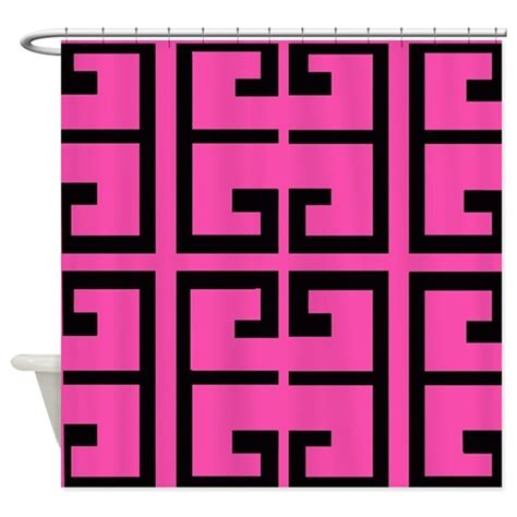 hot pink and black shower curtain hot pink and black tile shower curtain by crazycheckerboards