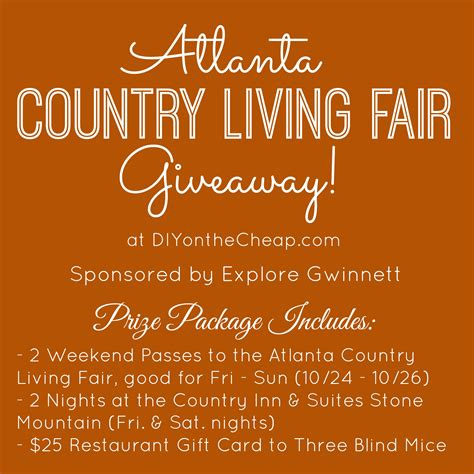 Country Living Giveaways - atlanta country living fair giveaway erin spain