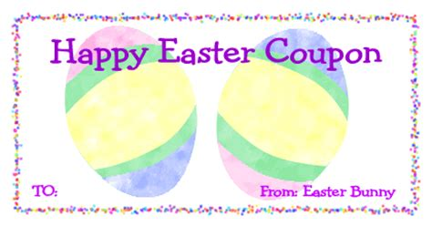 easter gift card template easter gift certificate templates happy easter