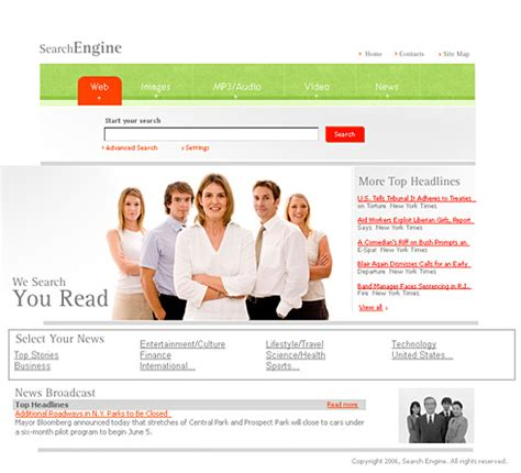 search engine html template 0986 business website