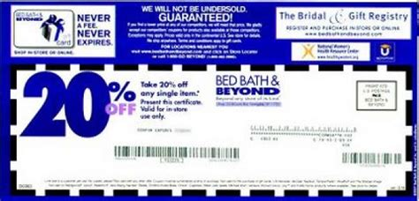 Bed Bath Coupon bed bath and beyond coupons