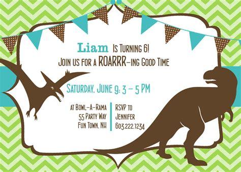how to create dinosaur birthday invitations all
