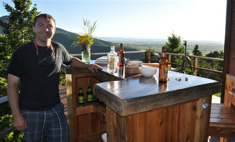 build your own patio bar patio bar plans concrete counter and cedar base