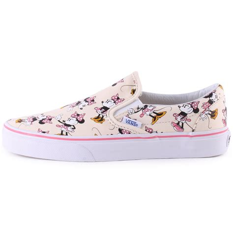 disney shoes for vans classic slip on disney minnie womens canvas trainers