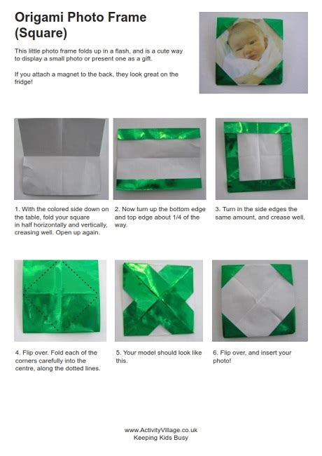How To Make A Paper Frame - origami photo frame