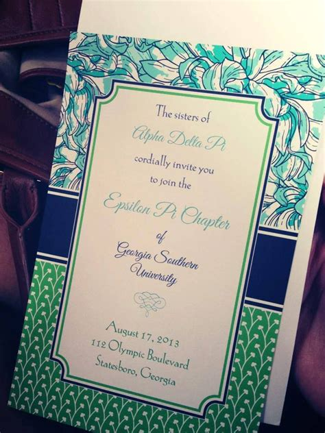 bid day card sorority recruitment template 12 best images about bid day cards on