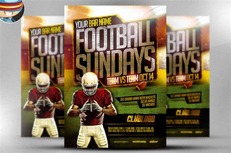 football flyers templates football sundays flyer template 2 flyer templates on