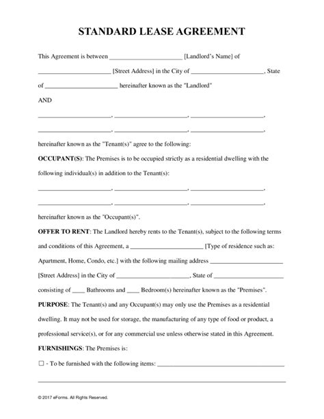 Free Printable Rental Agreements Freepsychiclovereadings Com Free Printable Lease Template