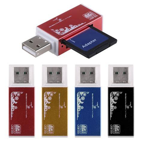 Card Reader Usb 2 0 4 In 1 slim usb 2 0 4 in 1 multi memory stick card reader adapter