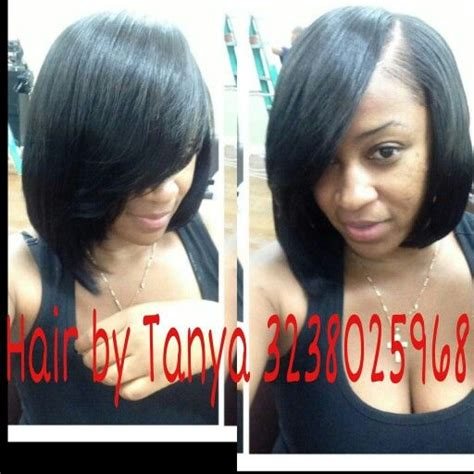 partial short weaves partial weave bob hairstyles pinterest crochet
